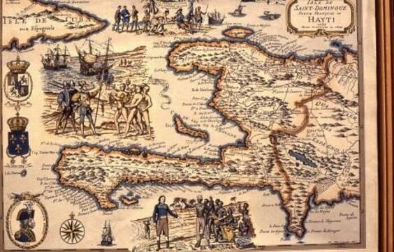 Carte de la partie française de Saint-Domingue ou Haïti, 1789-1804