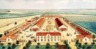 Perspective d'ensemble de la Ferme de Platé, d'Armand Moisant à Neuville-le-Roi