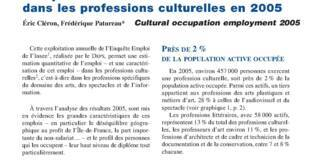 L'emploi dans les professions culturelles en 2005