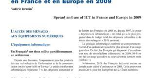 Diffusion et utilisations des Tic en France et en Europe en 2009