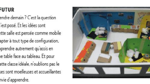 Mini maquette et présentation de la salle de classe du futur