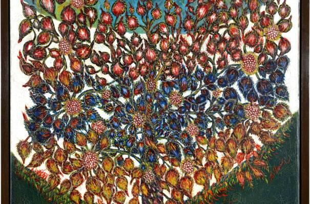 Séraphine de Senlis, L'Arbre de vie, huile sur toile, 1928-1930, musée d'art et d'archéologie de Senlis, © Christian Schryve, Compiègne