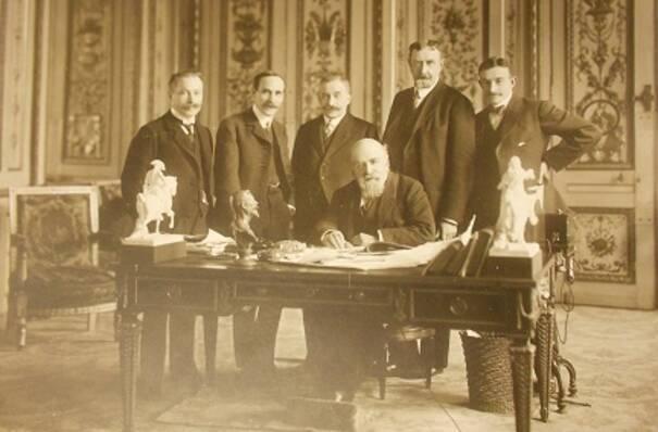 Cabinet d'Etienne Dujardin Beaumetz, rue de Valois (1905-1912)