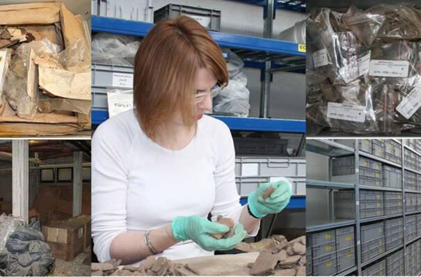 """Aperçu """"avant/après"""" d'un chantier de collection © Archéologie Alsace"""