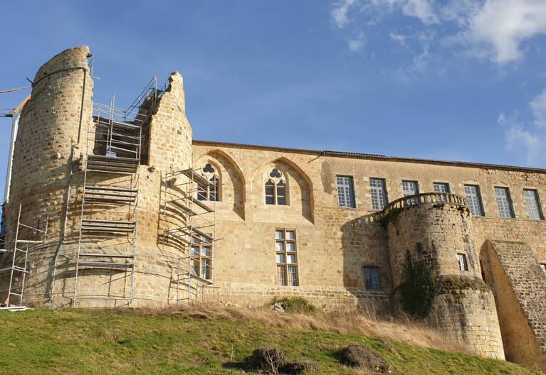 63-château de Ravel façade ouest
