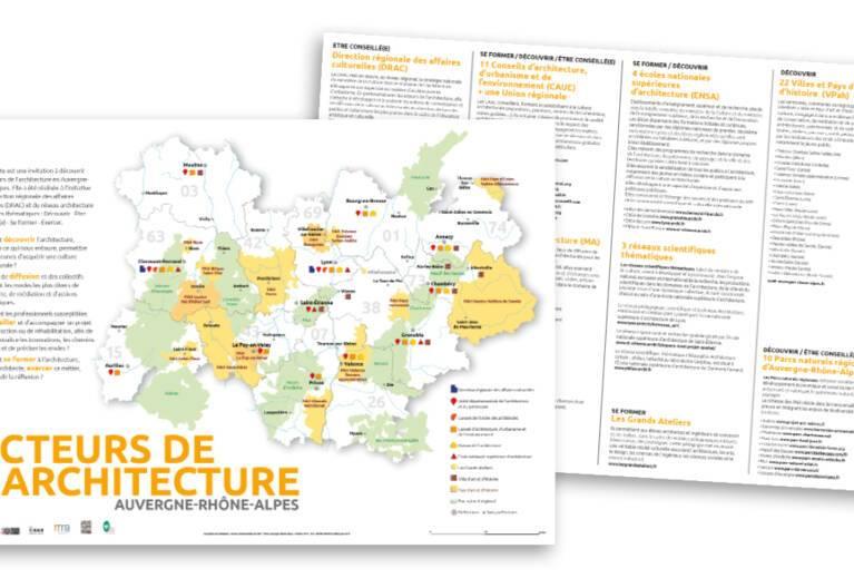 Carte des acteurs de l'architecture en Auvergne-Rhône-Alpes