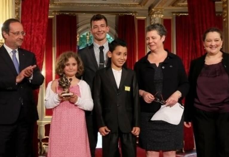 Remise du premier prix de l'Audace artistique et culturelle à Kid Birds