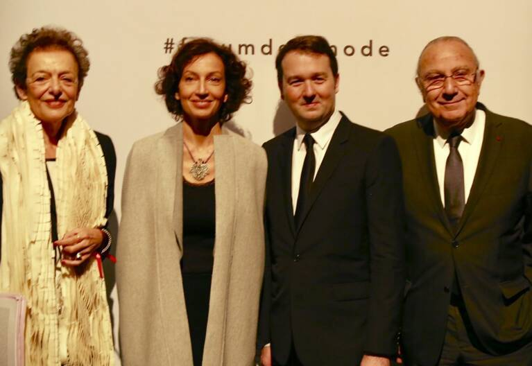 Lyne Cohen-Solal, Audrey Azoulay, Pierre-François le Louët, Pierre Aidenbaum à l'ouverture du 1er Forum de la Mode