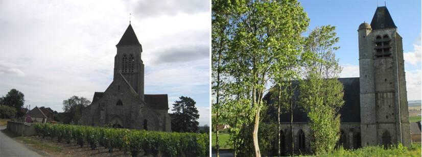 Allemant (Marne), église Saint-Remi / Béthon (Marne), église Saint-Serein