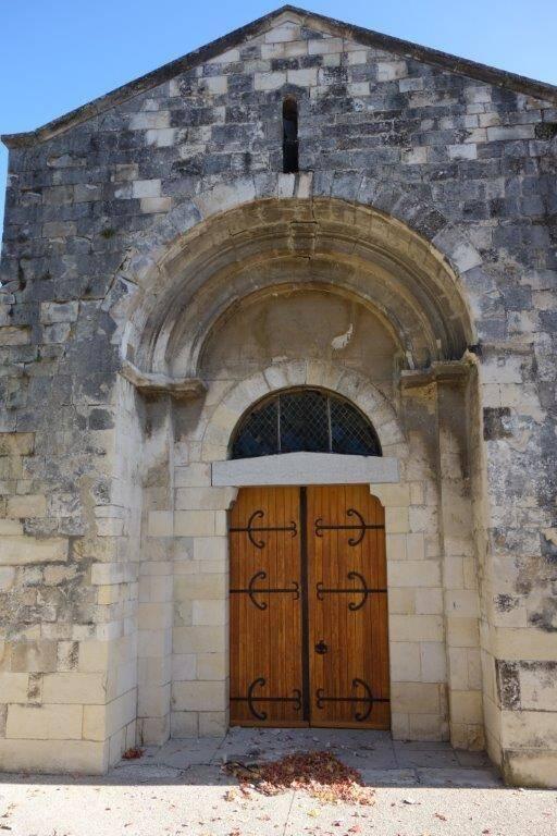 Le Teil - église de Saint-Etienne de Mélas  - portail