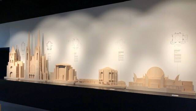 Maquette des édifices cultuels à Strasbourg