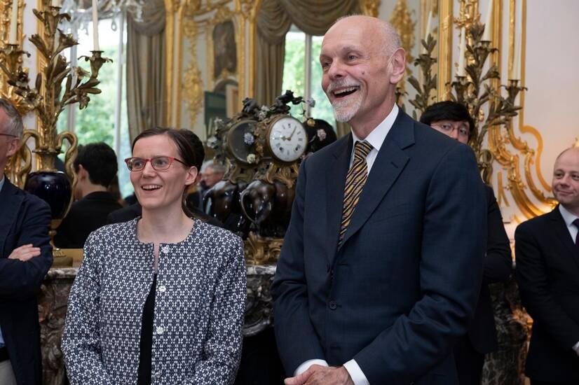 Photographie d'Anne-Solène Rolland, Cheffe du Service des musées de France et Coprésidente de FRAME en France, et William Beekman, Coprésident de FRAME