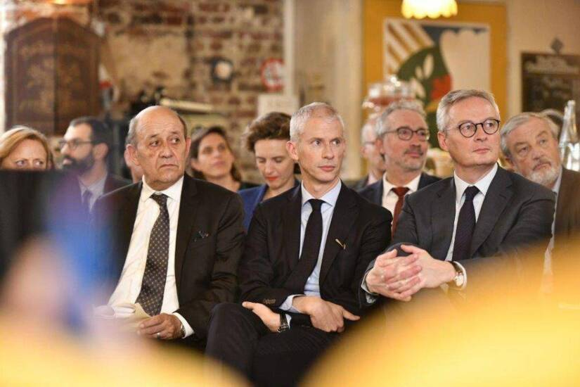 Jean-Yves le Drian, Franck Riester et Bruno le Maire