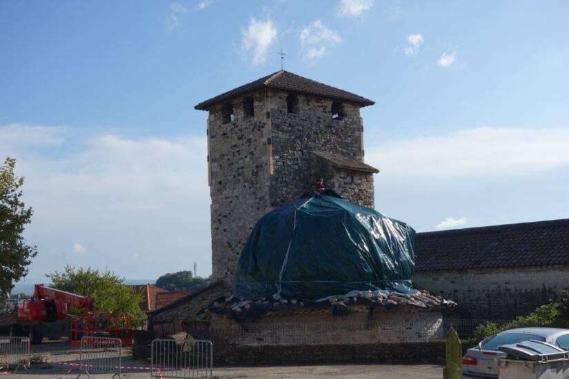 Le Teil - église de Saint-Etienne de Mélas - premiers travaux d'urgence