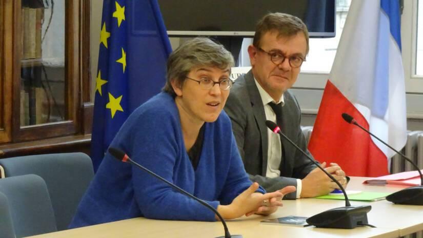 Valérie Travier, directrice régionale adjointe déléguée et Pascal Andurand, conseiller pour l'action culturelle et territoriale