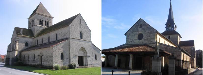 Saint-Soupley-sur-Py, église Saint-Sulpice / Sermaize-les-Bains, église Notre-Dame