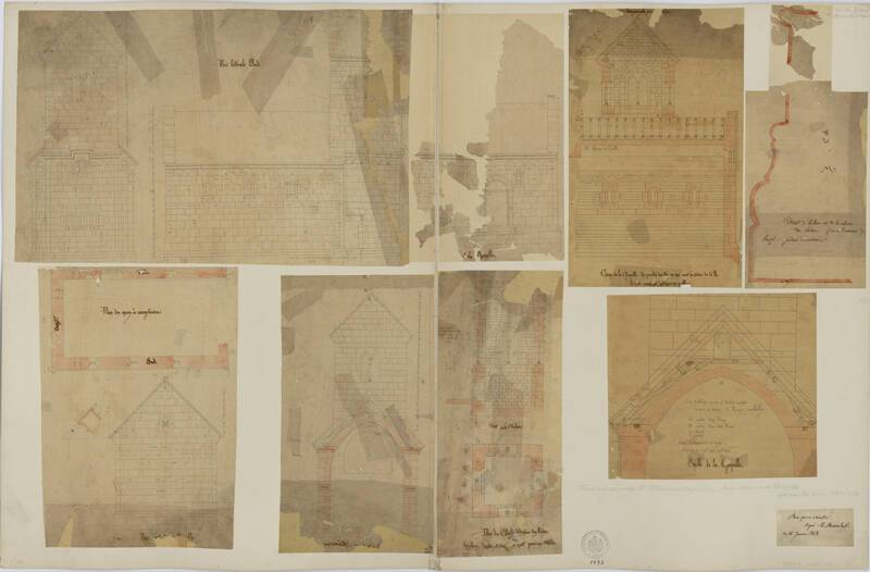Abbatiale de Niedermunster, Bon pour exécuter, E. Boeswilwald, 1848. DAR 248A001-065 - Denkmalarchiv