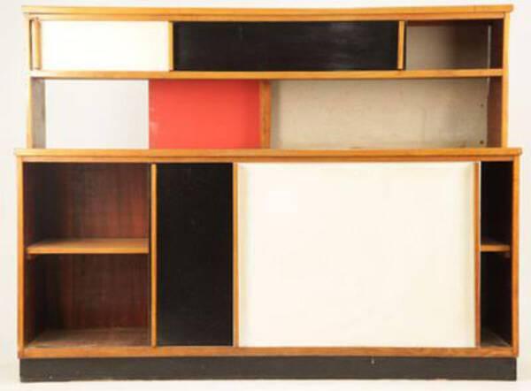 Édition originale d'un meuble passe-plat par Le Corbusier, pour la Cité Radieuse de Briey (1960) - Musée Pierre-Noël - Saint-Dié-des-Vosges