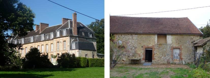 La Noue (Marne) - Château et grange