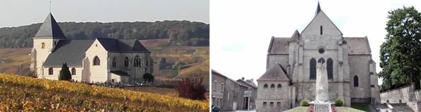 Chavot-Courcourt, église Saint-Martin / Cormicy, église Saint-Cyr-et-Sainte-Julitte
