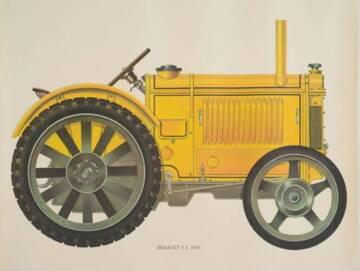Affiche Renault Y.L.1933, papier, impression photomécanique, 1933, Chartres, conservatoire du machinisme et des pratiques agricoles © F. Lauginie – Le Compa – 2013