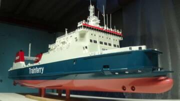Maquette de ferry Nord-Pas-de-Calais, matière plastique, 20e siècle, Dunkerque, musée portuaire © Musée portuaire