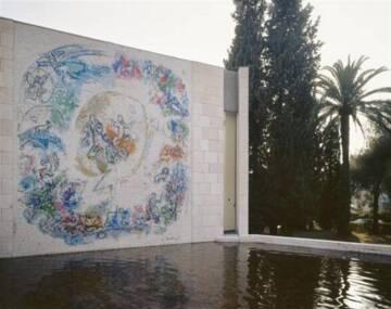 Musée national Marc Chagall : mosaïque «Le prophète Elie» Photo (C) RMN-Grand Palais (musée Marc Chagall) / Gérard Blot