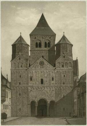 Façade occidentale de l'abbatiale de Marmoutier, Rönnebeck et Wolff, 1876. ICO 283A001_009-01 - Denkmalarchiv