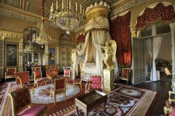 Château de Compiègne : la chambre à coucher de l'impératrice Photo (C) Collection Jean-Baptiste Leroux, Dist. RMN-Grand Palais / Jean-Baptiste Leroux