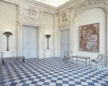Musée Picasso : salon de Jupiter, Peinture de Pablo Picasso, mobilier de  Diego Giacometti Photo (C) RMN-Grand Palais (Musée national Picasso-Paris) / image RMN-GP