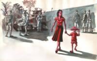 BALOUP Clément, Quitter Saigon – couverture, planche de bande-dessinée, papier (peinture acrylique), 2006, Paris, musée national de l'histoire de l'immigration © Clément Baloup / La boite à bulles