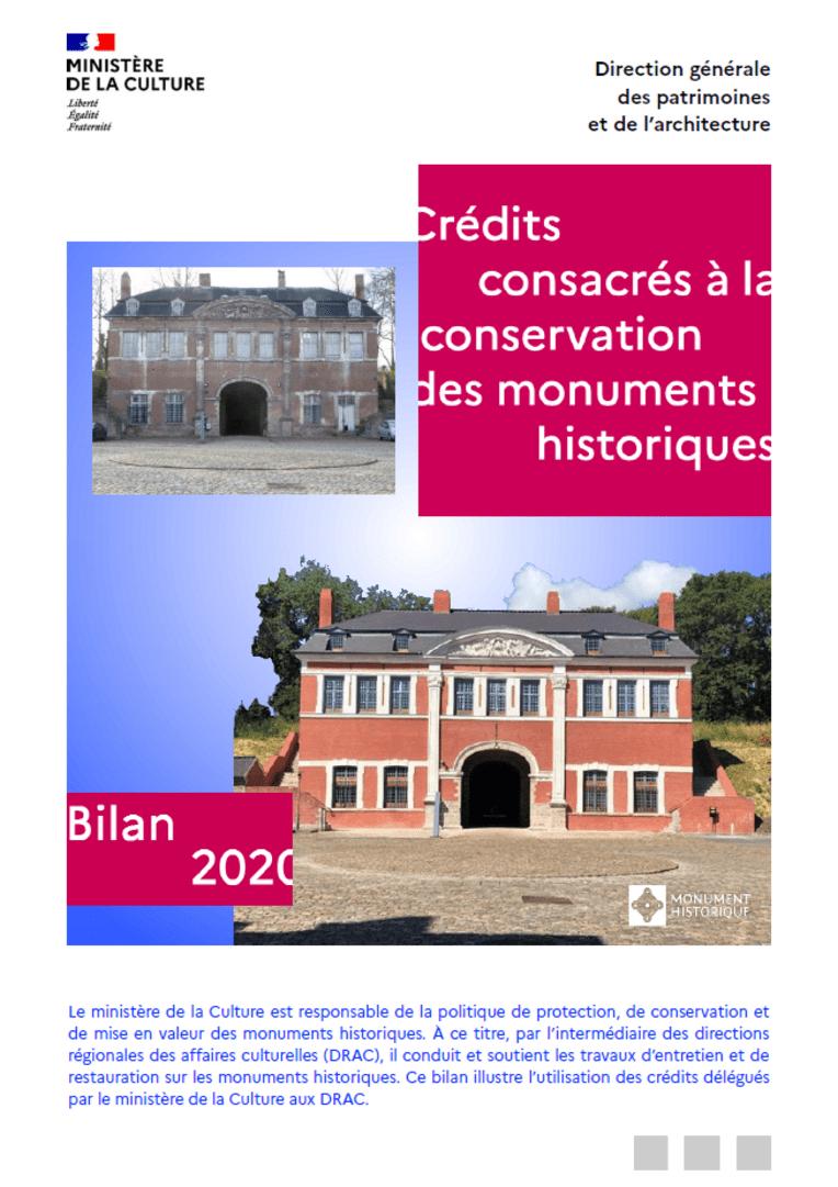 Crédits conservation MH - Bilan 2020