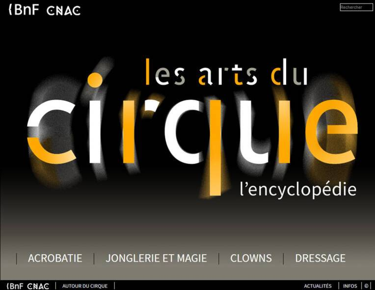 BnF - CNAC : L'Encyclopédie des Arts du cirque