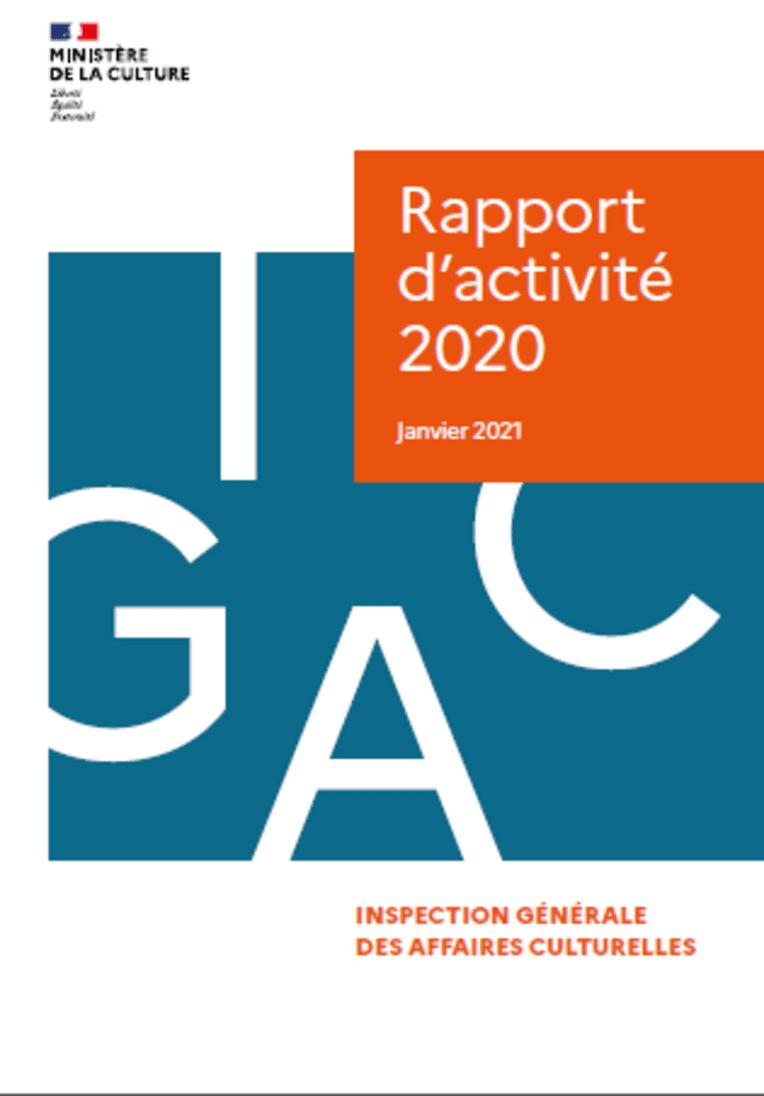 Rapport d'activité IGAC 2020, Inspection générale des affaires culturelles