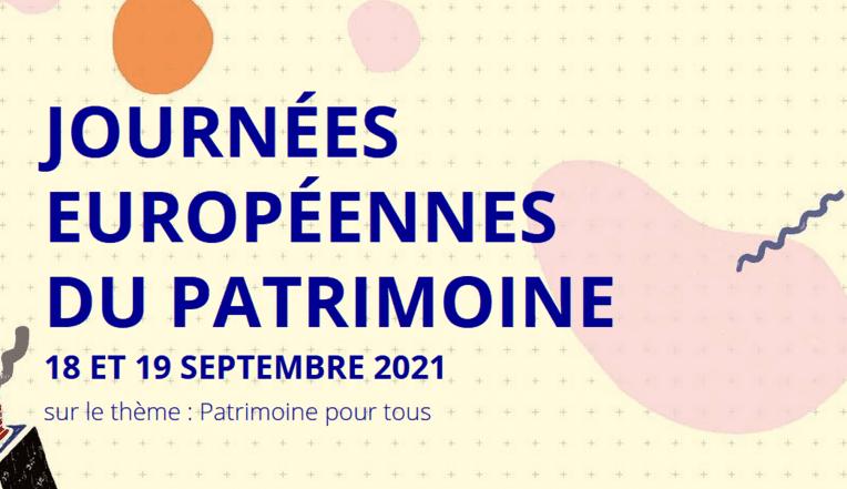 JOURNÉES EUROPÉENNES DU PATRIMOINE 2021 - Visuels et éléments graphiques/Commandes d'affiches