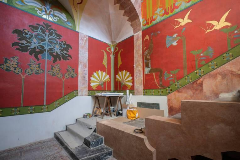 La restauration du décor exceptionnel de la Villa Laurens à Agde