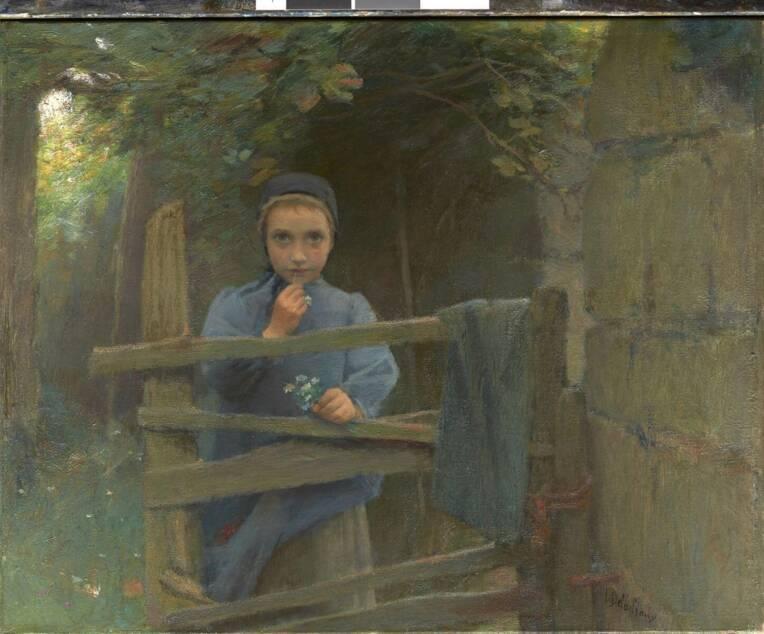 DELACHAUX Léon, Marguerite, petite paysanne du Blanc, huile sur toile, seconde moitié 19e siècle, Saint-Amand-Montrond, musée Saint-Vic (c) Inès Bécuau