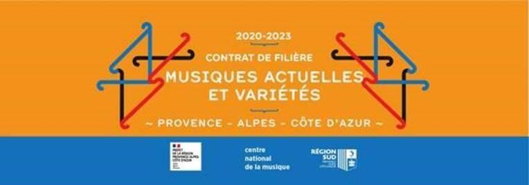 Filière musiques actuelles et variétés en Provence-Alpes-Côte d'Azur (2020-2023)