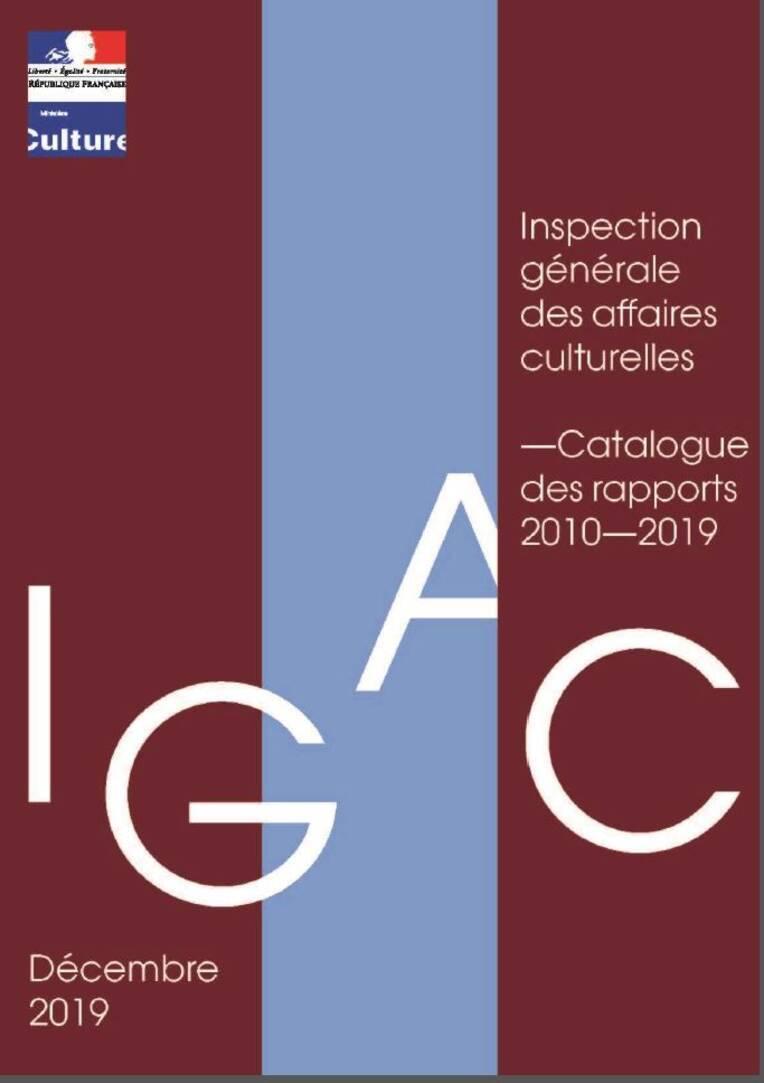 Catalogue des rapports Igac 2010-2019