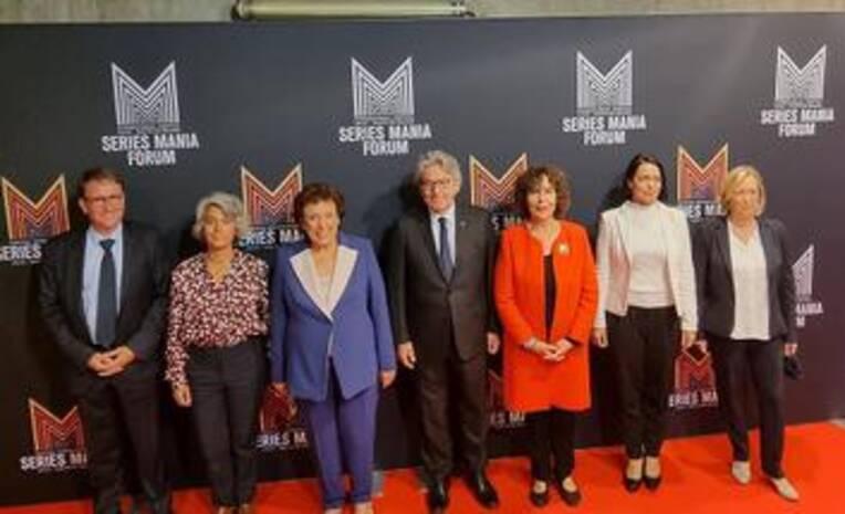 Déplacement de Roselyne Bachelot-Narquin à Lille dans le cadre du festival Séries Mania