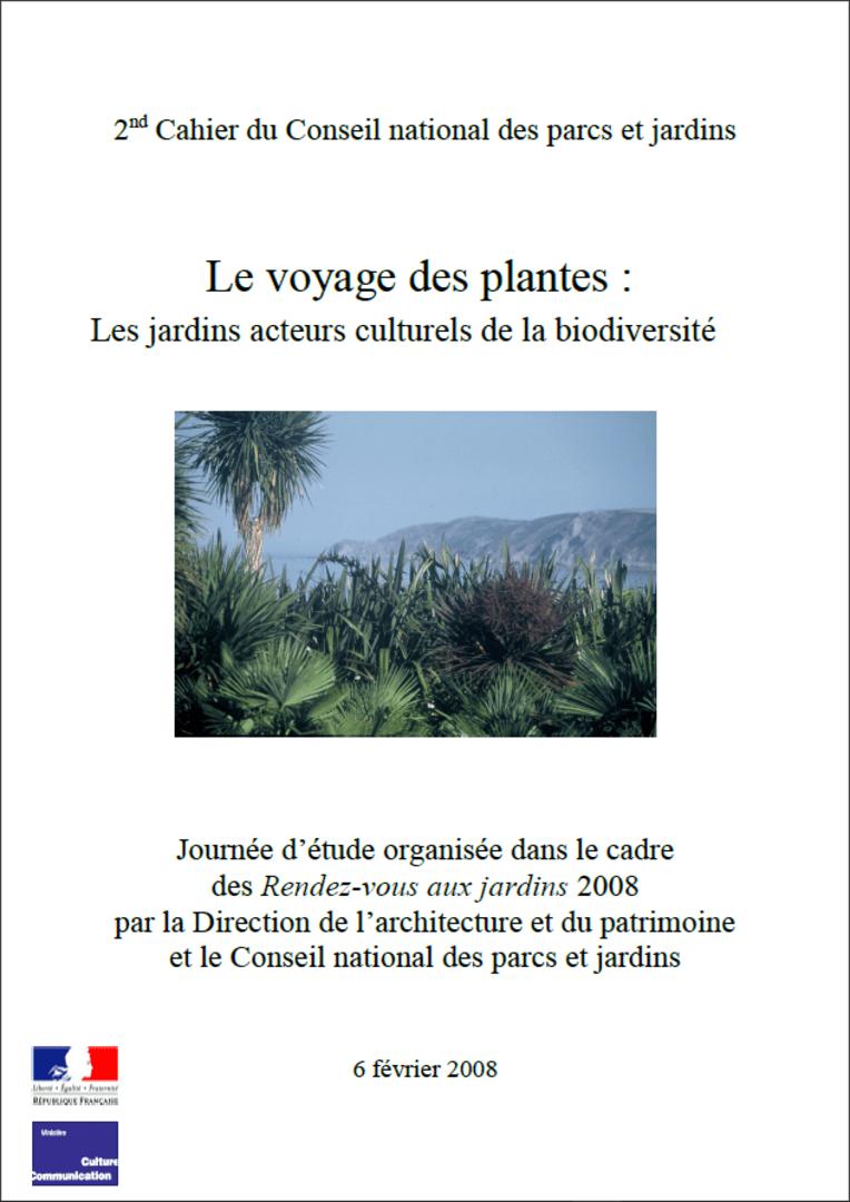 Actes RdvJardins 2008 - Le voyage des plantes