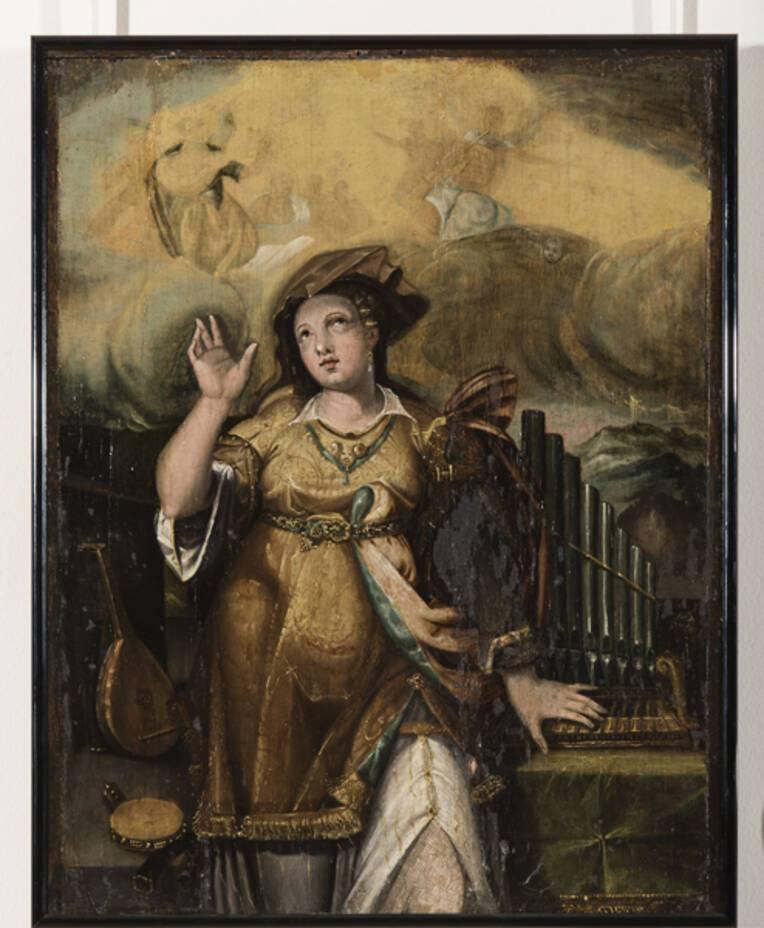 Sainte-Cécile attribuée à Tiburzio Passarotti