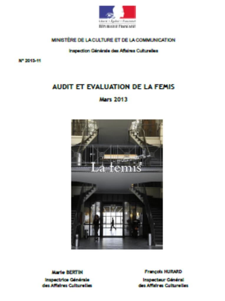 Audit et évaluation de la FEMIS