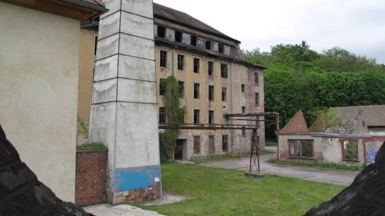 Le site du grand tissage de Wesserling à Husseren-Wesserling (Haut-Rhin)
