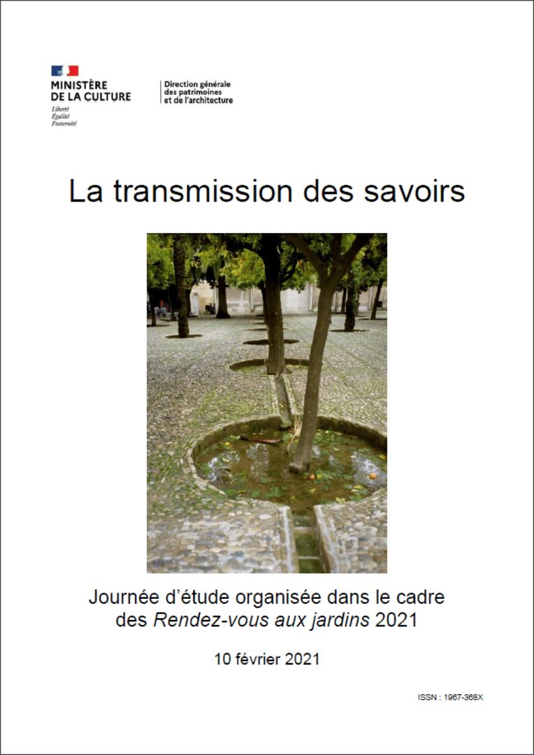 Actes RdvJardins 2021 - La transmission des savoirs