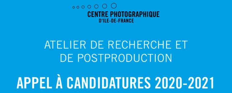 Centre photographique d'Île-de-France - Appel à candidatures 2020-2021