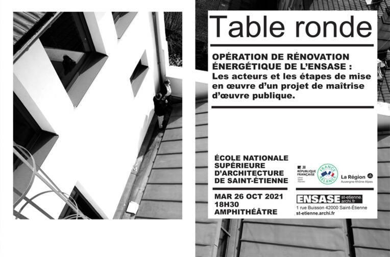 L'École nationale supérieure d'architecture de Saint-Étienne organise une table ronde sur la rénovation énergétique de son bâtiment
