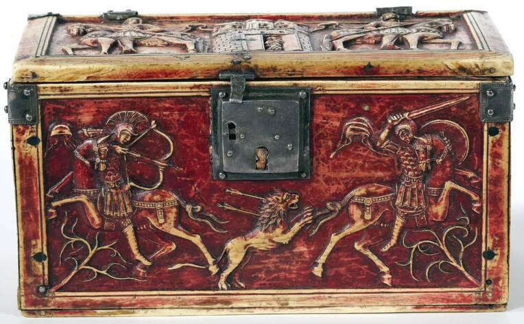 Troyes - Tresor coffret byzantin Trésor cathédrale de Troyes - coffret Byzantin @ DRAC CA