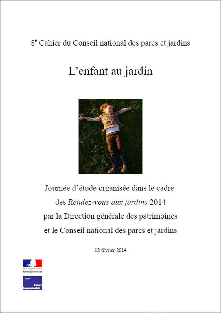 Actes RdvJardins 2014 -  L'enfant au jardin