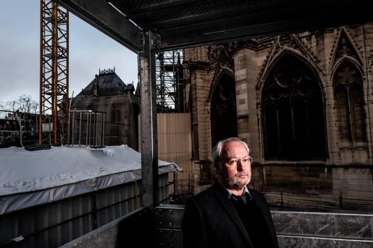 Philippe Villeneuve, l'architecte qui pilotait le chantier de Notre-Dame.